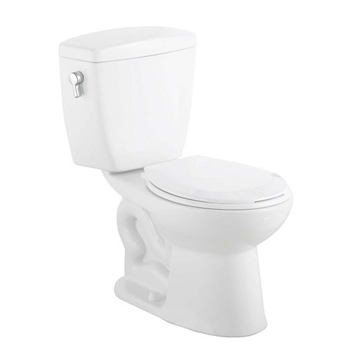 All-In-One 2-Piece 1.08 GPF Dual Flush Round Bowl Toilet