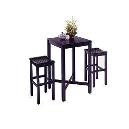 Black 3-Piece Pub Table set