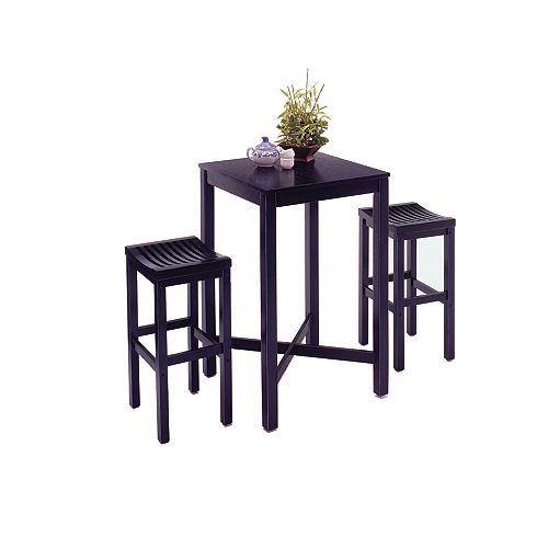 Black 3-Piece Pub Table set