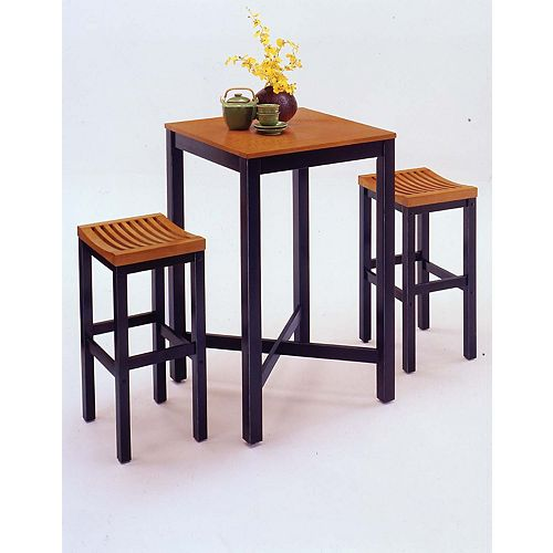 Black & Oak 3-Piece Pub Table set