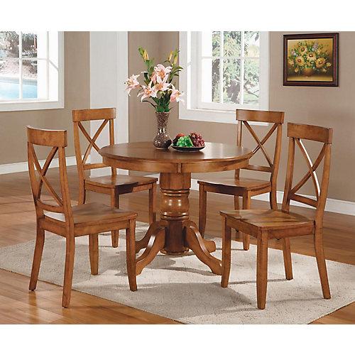 Cottage Oak 5-Piece Dining Set