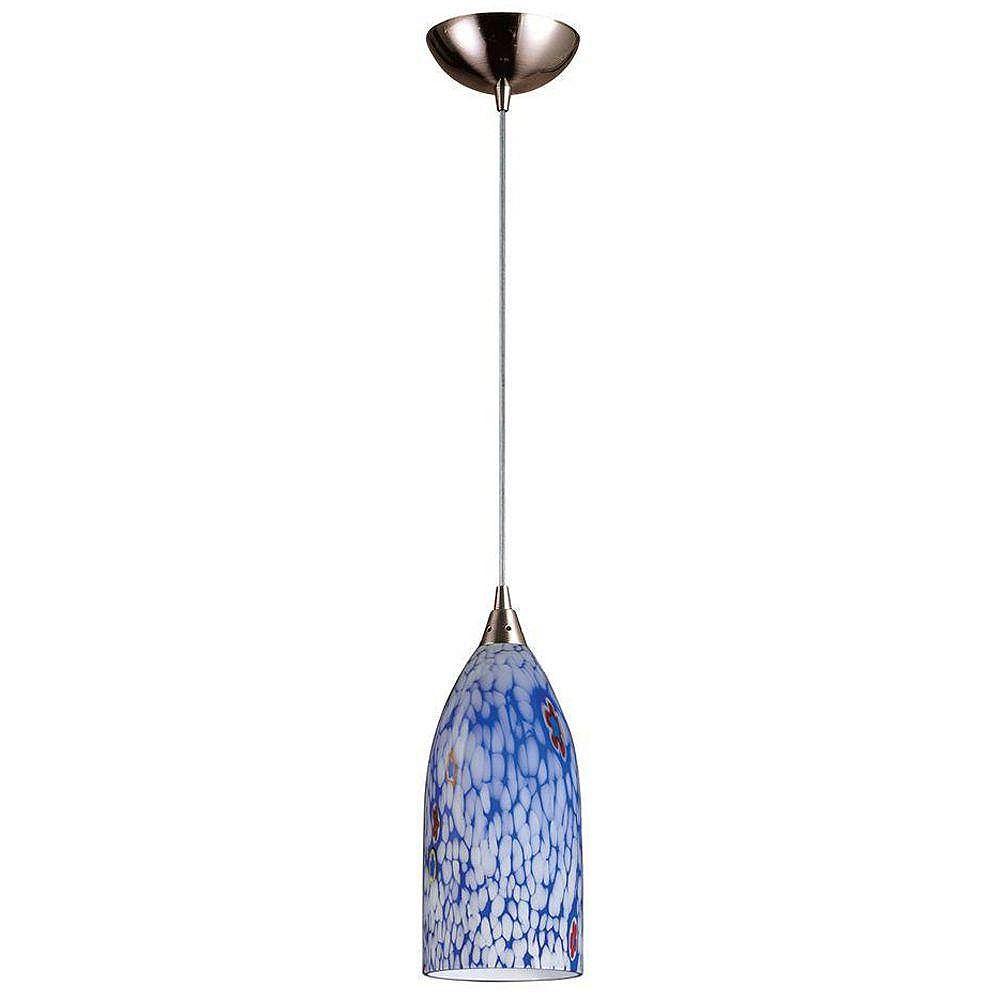 Titan Lighting Luminaire suspendu à 1 ampoule au fini nickel satiné