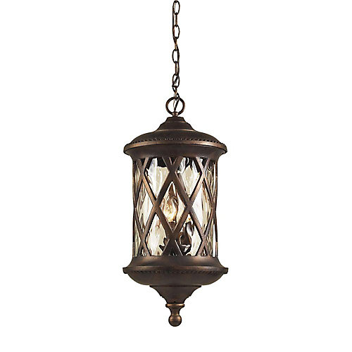 Barrington Gate 3-Light Hazelnut Bronze Outdoor Hanging Pendant