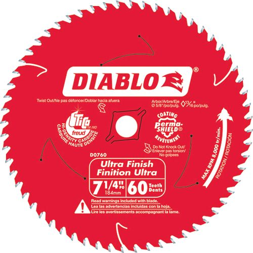 Diablo Fine Finishing Blade 7-1/4 Inch