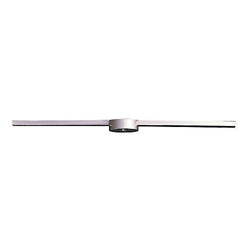 Plafonnier linéaire à 3 ampoules au fini nickel satiné