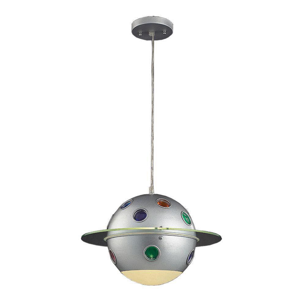 Titan Lighting 1-Light Ceiling Mount Satin Nickel Pendant - TN-5373