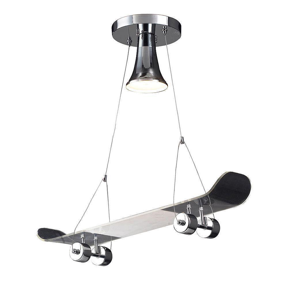Titan Lighting 1-Light Ceiling Mount Chrome Pendant