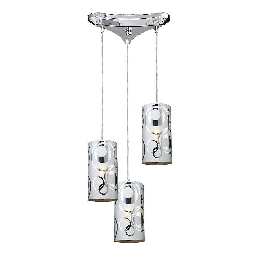 Titan Lighting 3-Light Ceiling Polished Chrome Pendant