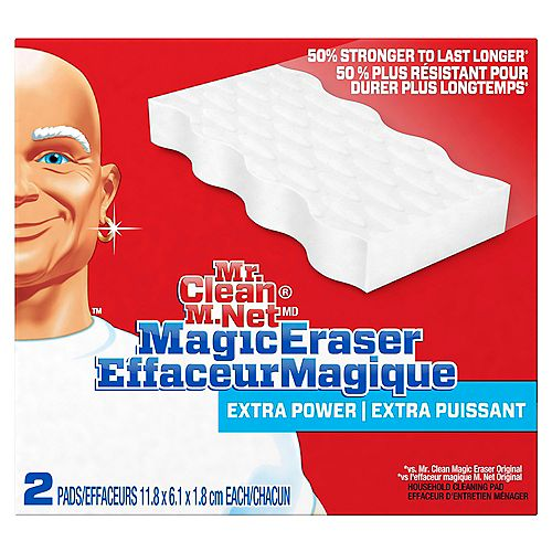 Magic Eraser Extra Durable, Cleaning Pads with Durafoam, 2 count