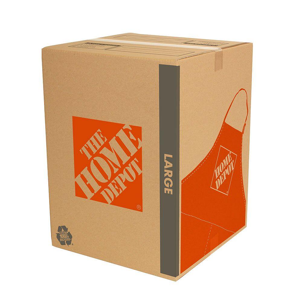 The Home Depot Grande boîte de déménagement (18 pouces de long x 18 pouces de large x 24 pouces de profondeur)