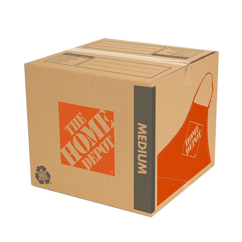 The Home Depot 18 inch L x 18 inch W x 16 inch D Medium Moving Box