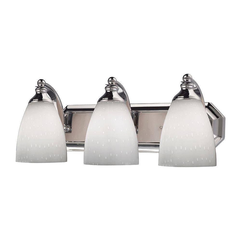 Titan Lighting 3-Light Wall Mount Polished Chrome Vanity