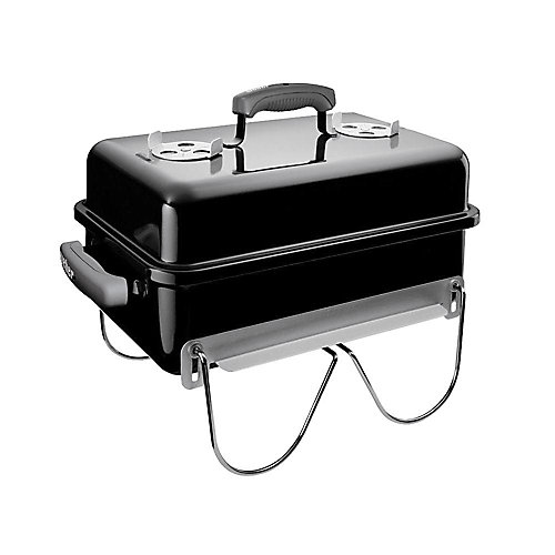 Go-Anywhere Portable Charcoal BBQ in Black