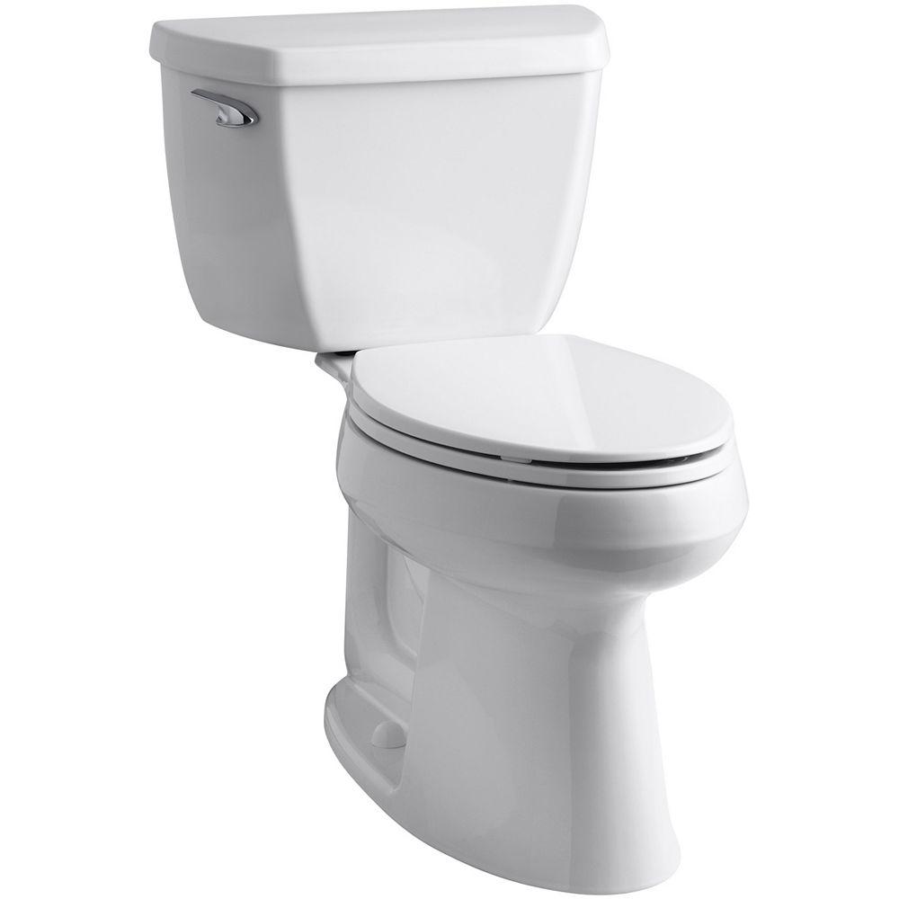 KOHLER Highline Comfort Height 2-Piece Single-Flush Elongated Bowl Toilet in White