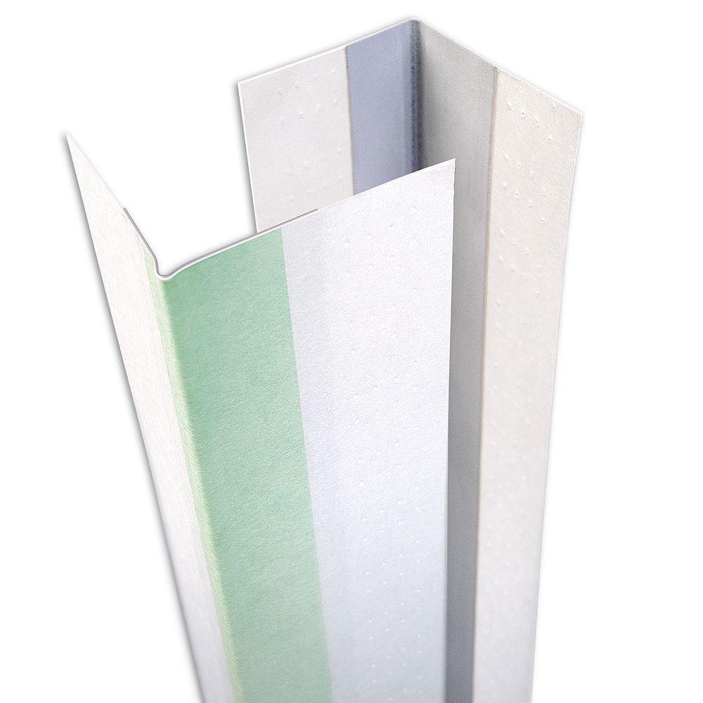 CGC Sheetrock Paper-Faced Metal Outside Corner Bead, 9/16 in. x 13/16 in. Uneven Leg, 10 ft.