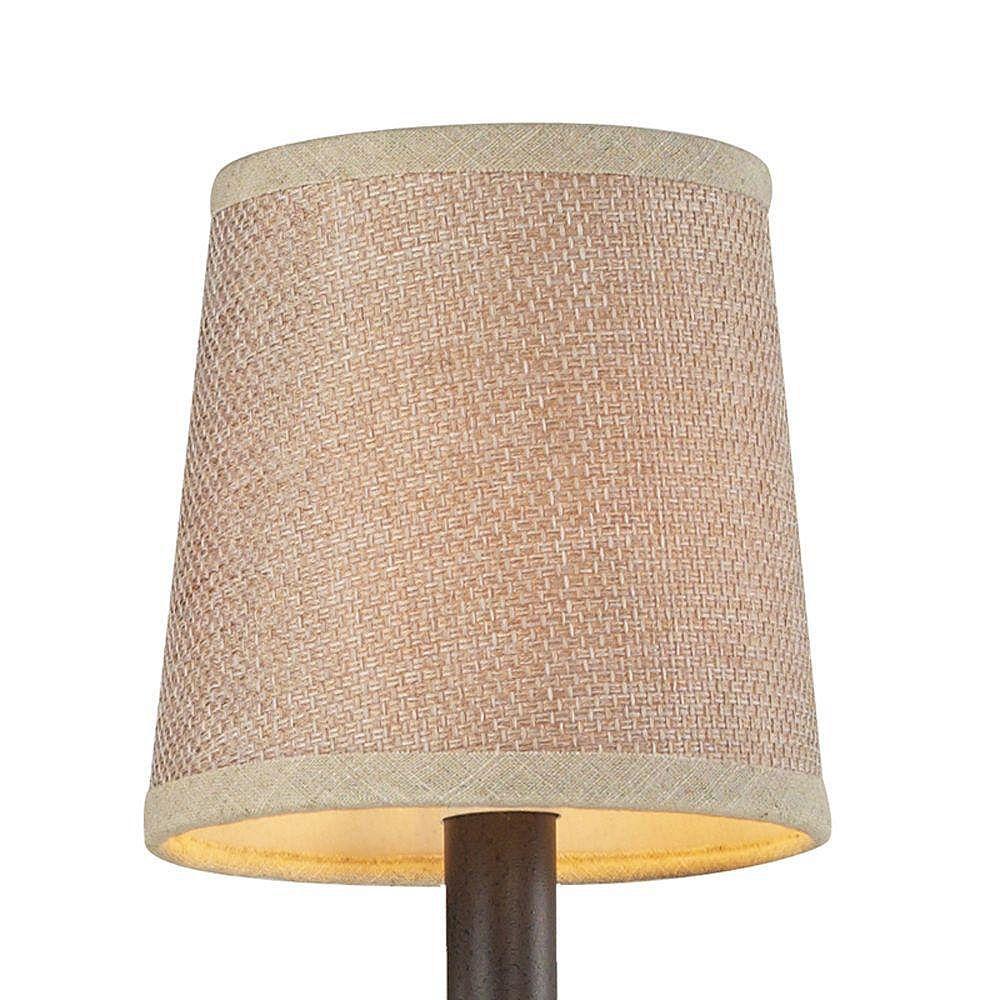 Titan Lighting 5 Inch Tan Textured Linen Shade