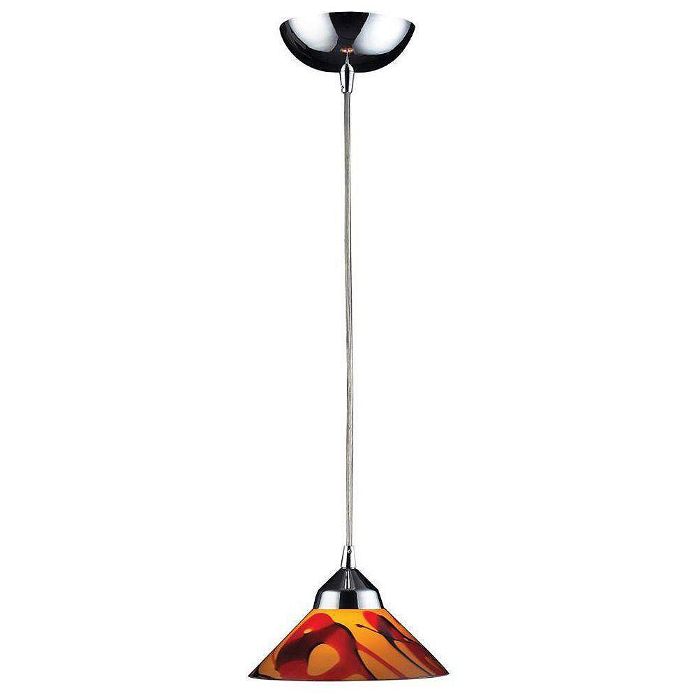 Titan Lighting Luminaire suspendu à 1 ampoule au fini chrome poli