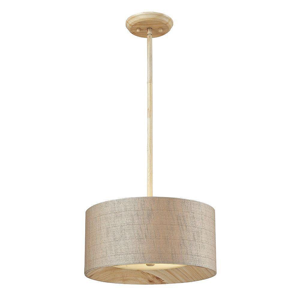 Titan Lighting Luminaire suspendu à 3 ampoules au fini pin délavé