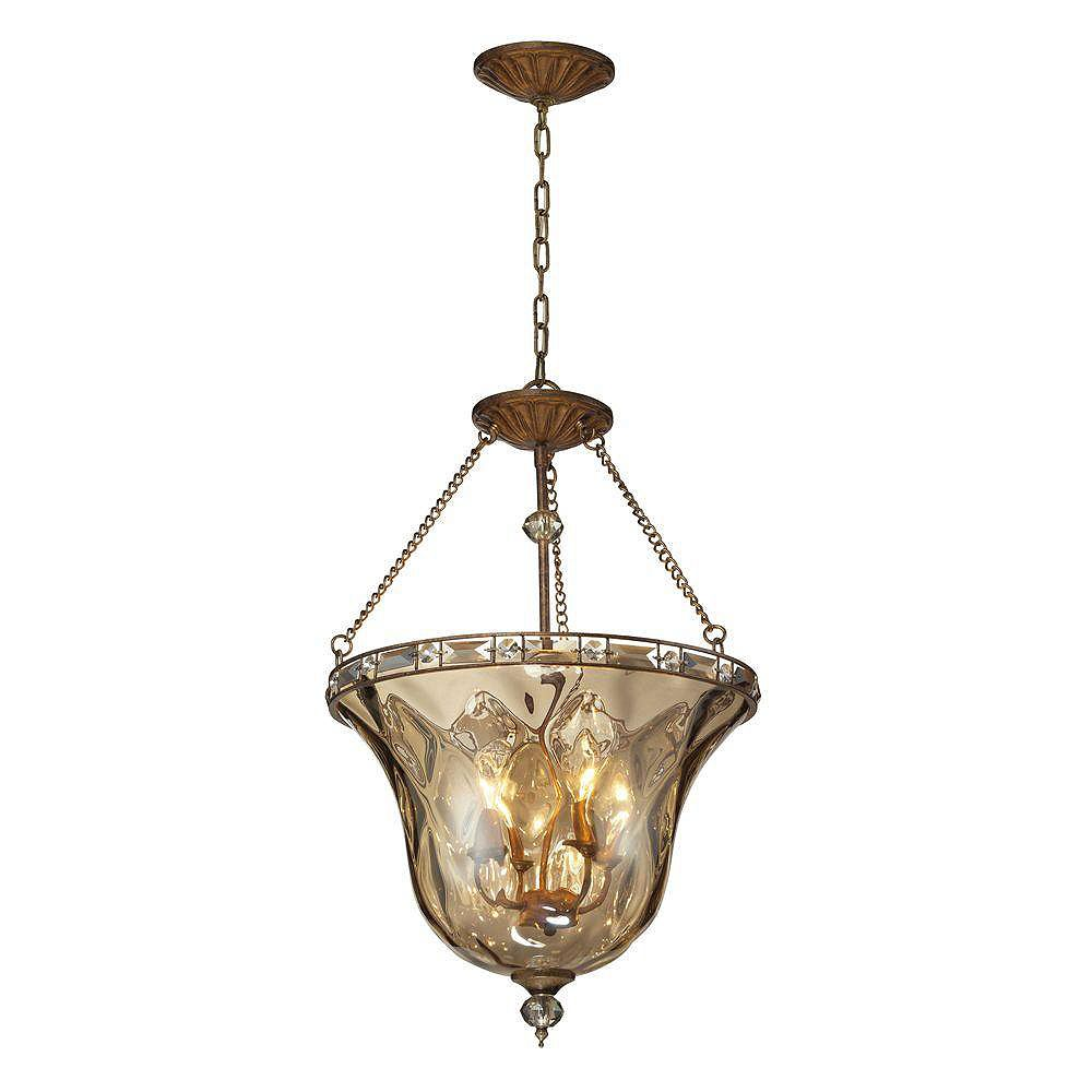 Titan Lighting Luminaire suspendu à 4 ampoules au fini moka