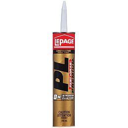 LePage PL Premium FAST GRAB Construction Adhesive, 295 ml