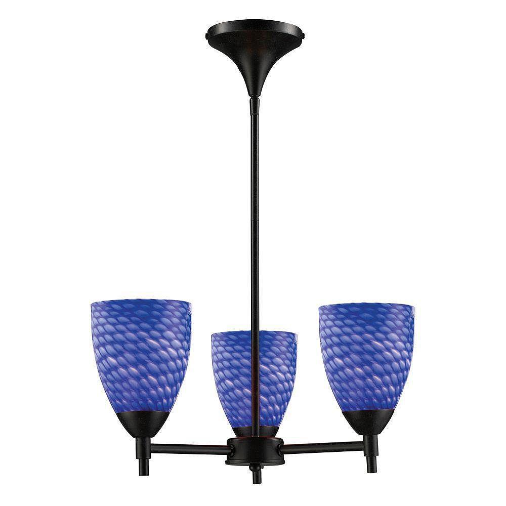 Titan Lighting Lustre à 3 ampoules au fini rouille sombre - TN-6658