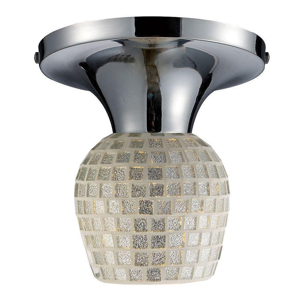 Titan Lighting Semi-plafonnier à 1 ampoule au fini chrome poli