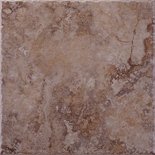 Eliane Lancaster Brown 12 Inch x 12 Inch Glazed Porcelain Floor & Wall Tile  -( 14.53 Sq. Ft. / Case)