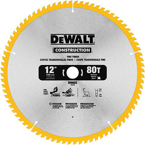 12 inch 80t Thin Kerf Mitre Saw Blade