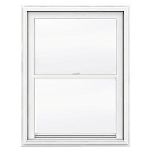 36-inch x 48-inch 5000 Series Single Hung Vinyl Window with J Channel Brickmould - ENERGY STAR®