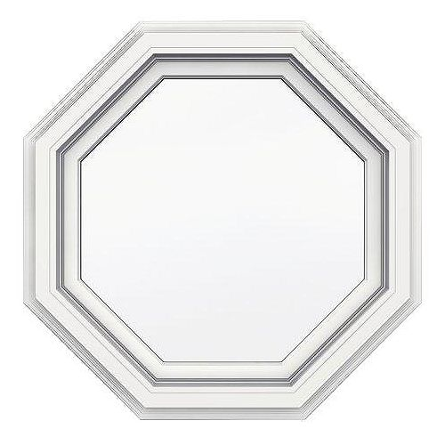 24-inch x 24-inch 5000 Series Vinyl Octagon Window with with J Channel Brickmould - ENERGY STAR®