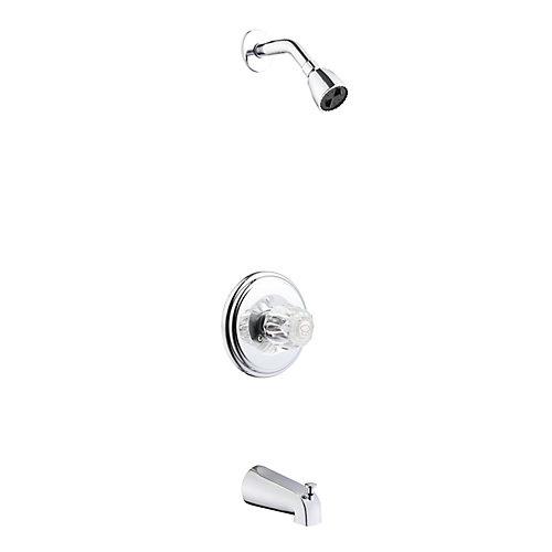 1 Handle Tub and Shower Set - Chrome