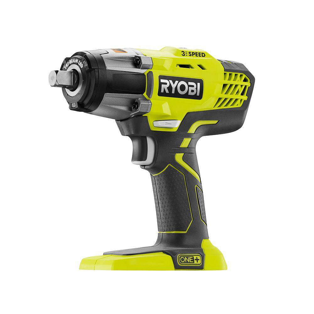 RYOBI 18V ONE+ 1/2-inch Cordless 3-Speed Impact Wrench (Tool-Only)
