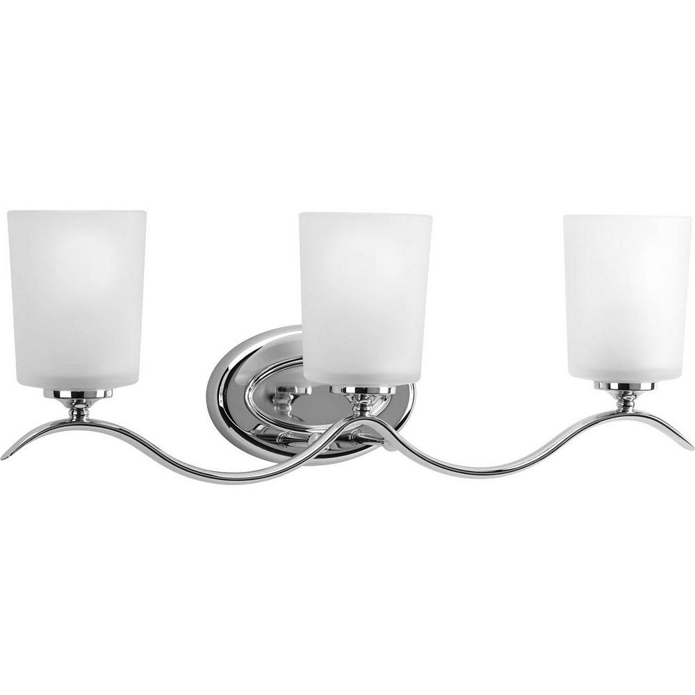 Progress Lighting Inspire Collection 3 Light Chrome Bath Light
