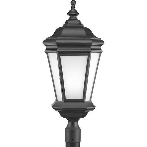 Fluorescente de Lampadaire à 1 Lumière, Collection Crawford - fini Noir