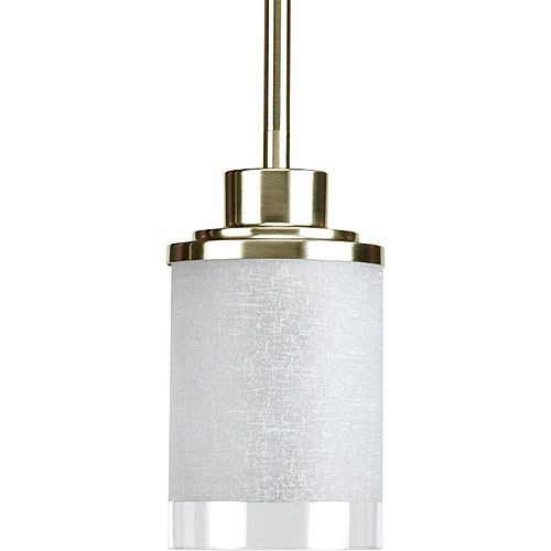 Mini suspension à 1 Lumière, Collection Alexa - fini Nickel Brossé
