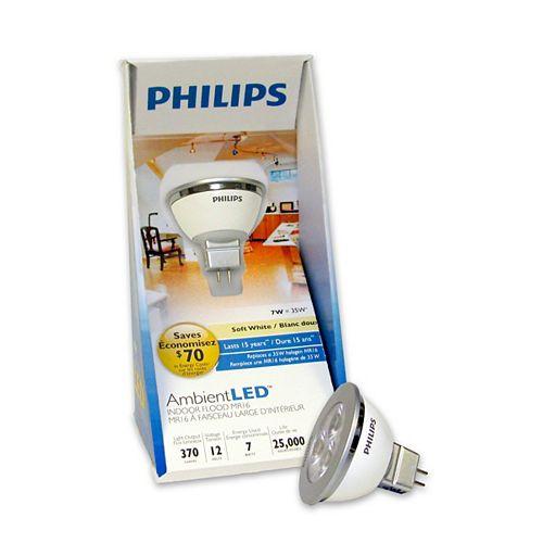 Philips 7W MR16 DEL Blanc Doux