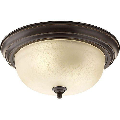 Progress Lighting 2 Light Antique Bronze Flushmount