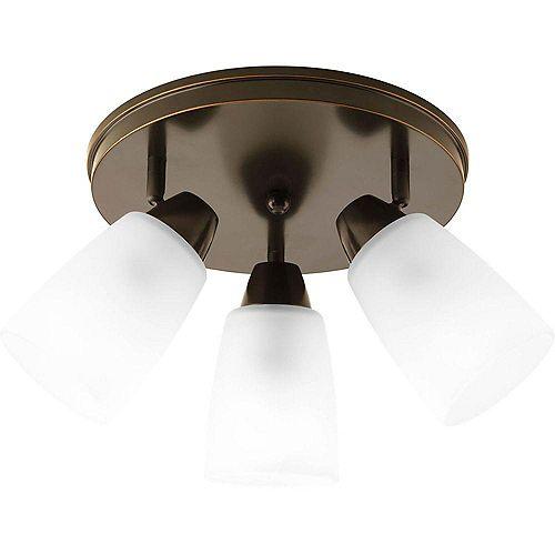 Projecteur à 3 Lumières, Collection Wisten - fini Bronze à l'Ancienne