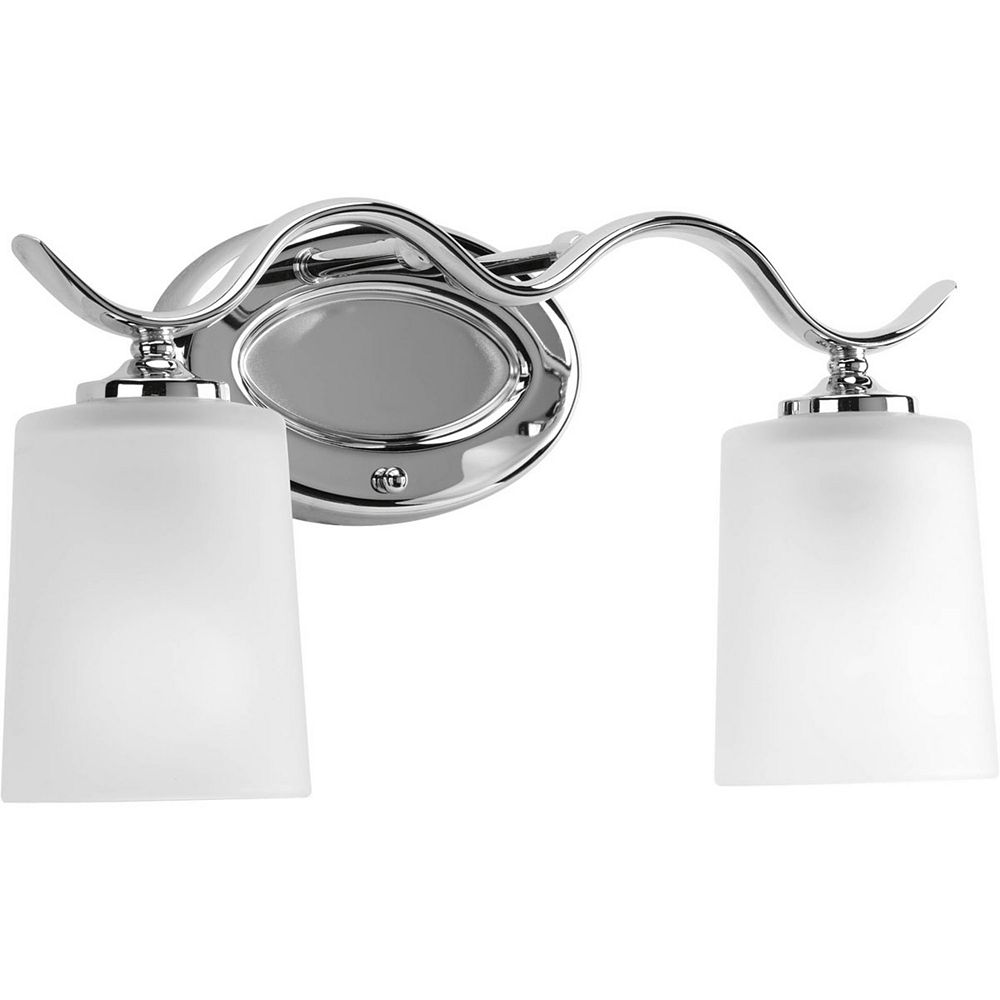 Progress Lighting Inspire Collection 2 Light Chrome Bath Light