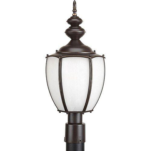 Fluorescente de Lampadaire à 1 Lumière, Collection Roman Coach - fini Bronze à l'Ancienne
