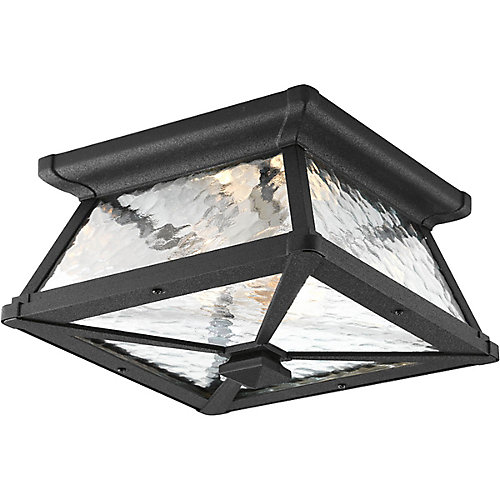 Mac Collection 2 Light Black Outdoor Flushmount
