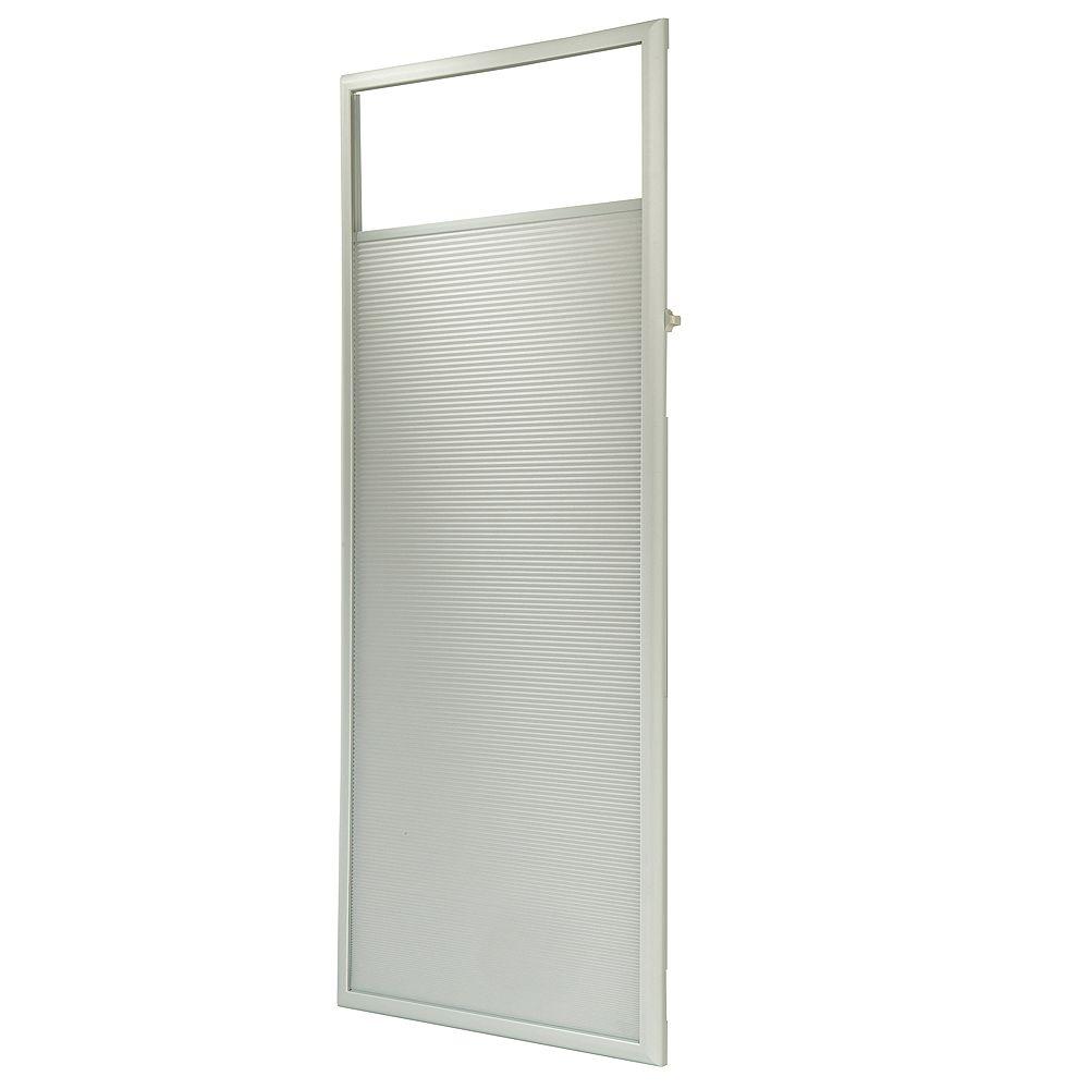 ODL Store cellulaire complémentaire encastré en tissu pour portes dentrée de 22 x 64 po