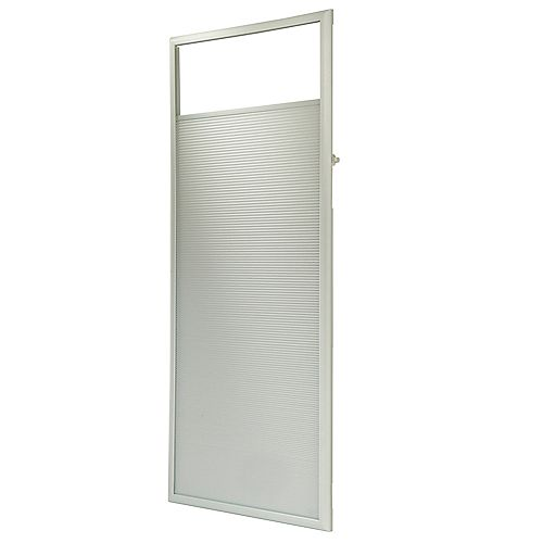 22-inch x 64-inch Fabric Enclosed Add-on Cellular Shade for Entry Doors