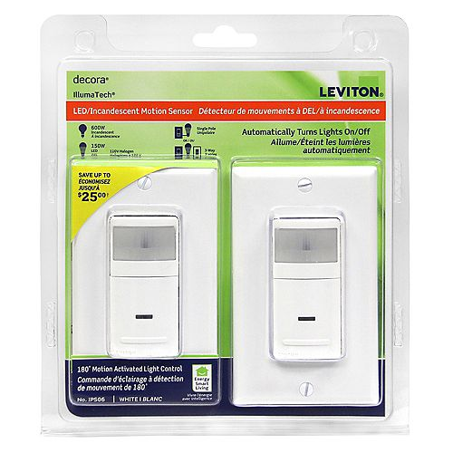 Decora Occupancy Sensor 180 White (2-Pack)