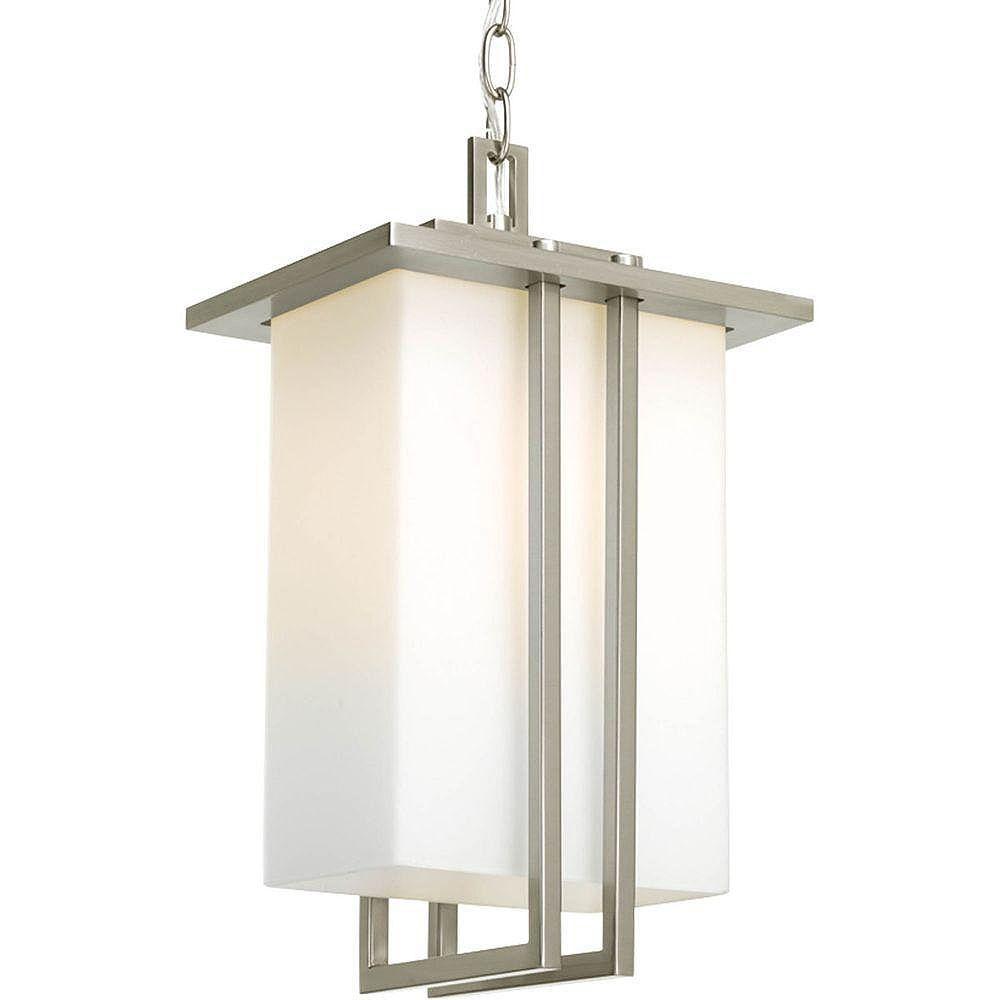 Progress Lighting Dibs Collection 1 Light Brushed Nickel Hanging Lantern