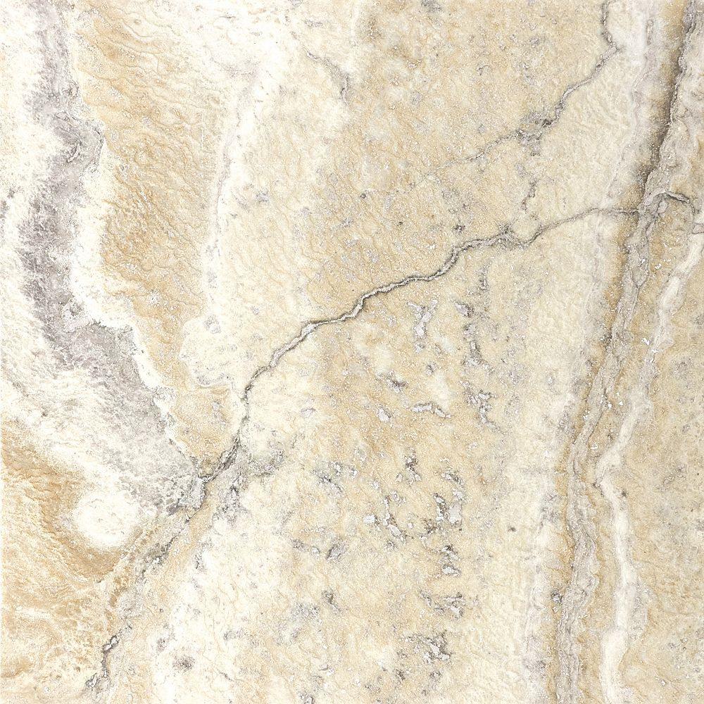 Enigma 12-Inch x 12-Inch Filled and Honed Picasso Travertine Tile (10 sq. ft./case)