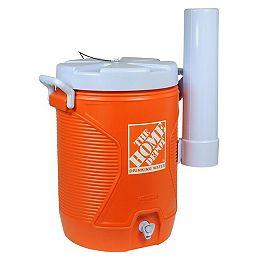 Refroidisseur d'eau rubbermaid de 5 gal avec logo home depot