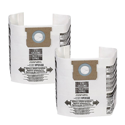Vacuum Dust Bags VF3503 Type B - 18 L to 38 L (2-Pack)