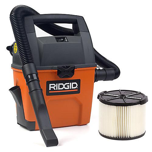 Aspirateur sec/humide portatif 11 litres (3 gal), 3,5 HP crête