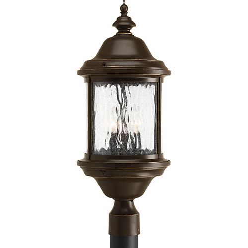 Lampadaire à 3 Lumières, Collection Ashmore - fini Bronze à l'Ancienne